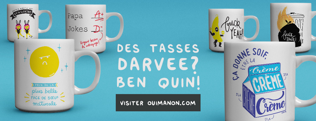 Tasses Collabo Darvee x Oui Manon