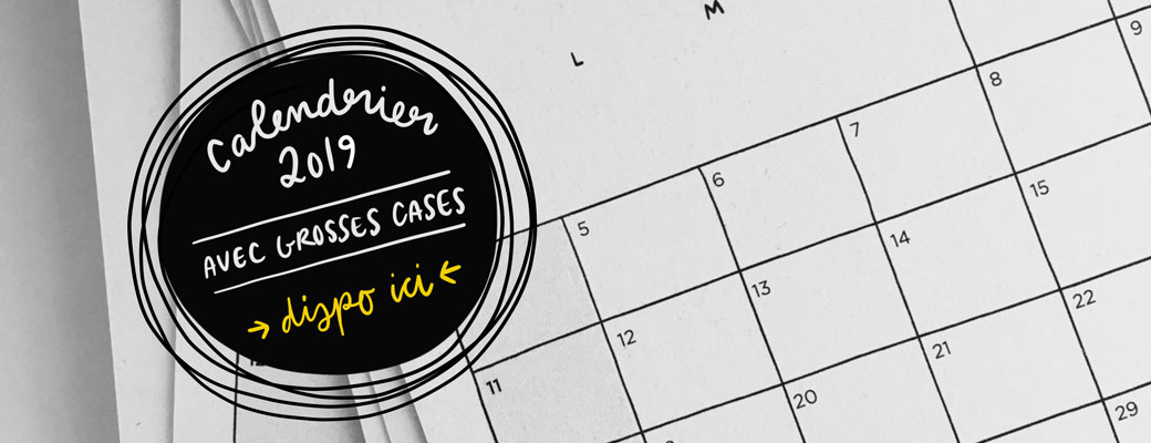 Calendrier 2019 Grosses Cases Darvee