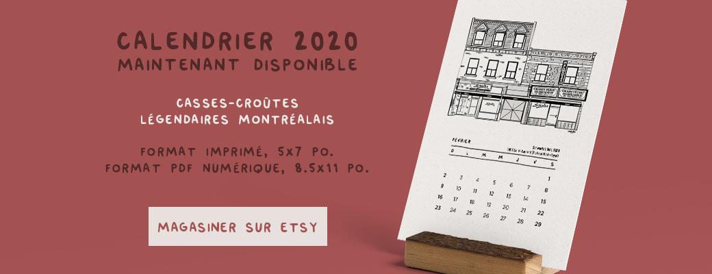 Calendrier 2020 - casse-croute - darveelicious