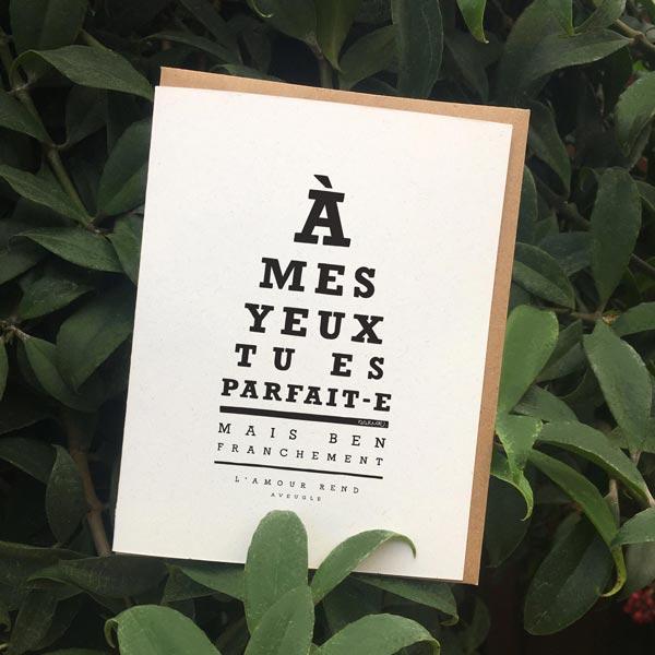 DARVEE - Carte de voeux - Etsy - À mes yeux tu es parfait-e