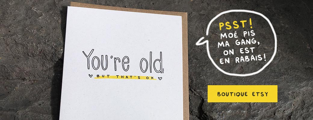 Slider - Soldes - Cartes de vœux - You're old - Etsy