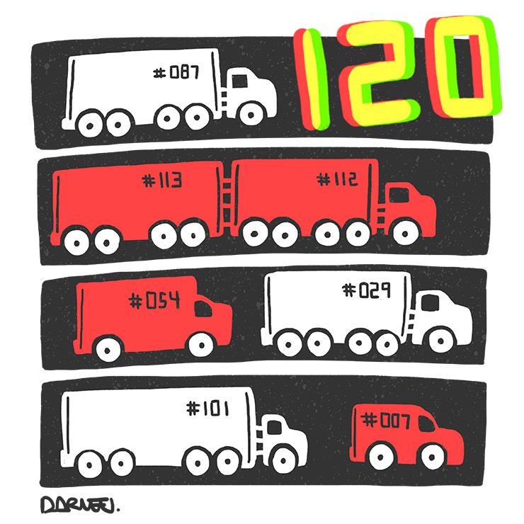 SI J'AVAIS UN TECH - Place des Arts - Chiffres - 120 camions